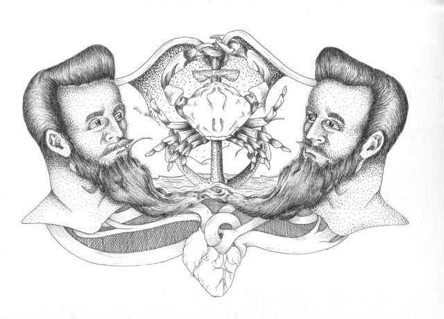 Bonded by the Beards Drawing