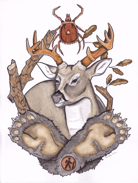 Deer Watercolor (5x7 print)